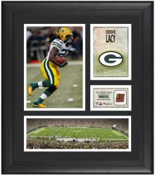"Eddie Lacy Green Bay Packers Framed 15"" x 17"" Collage with Game-Used Football"