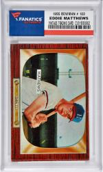 Eddie Mathews Mikwaukee Braves 1955 Bowman #103 Card