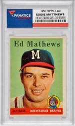 Eddie Mathews Mikwaukee Braves 1958 Topps #440 Card
