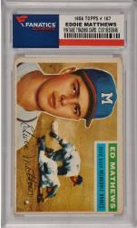 Eddie Mathews Milwaukee Braves 1956 Topps #107 Card