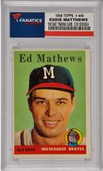 Eddie Mathews Milwaukee Braves 1958 Topps #440 Card