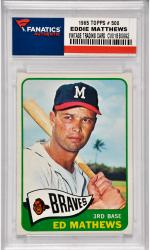 Eddie Mathews Milwaukee Braves 1965 Topps #500 Card