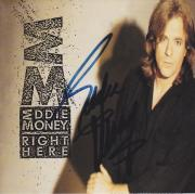 Eddie Money Autographed CD Cover and FREE Right Here CD