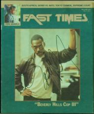 Eddie Murphy Authentic Signed 1994 Fast Times Magazine JSA #Q03432