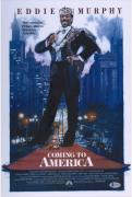 """Eddie Murphy Coming to America Autographed 12"""" x 18"""" Poster - BAS"""