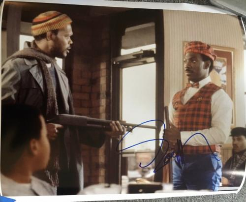 "EDDIE MURPHY SIGNED AUTOGRAPH ""BEVERLY HILLS COP"" RARE 16x20 MOVIE POSTER PHOTO"