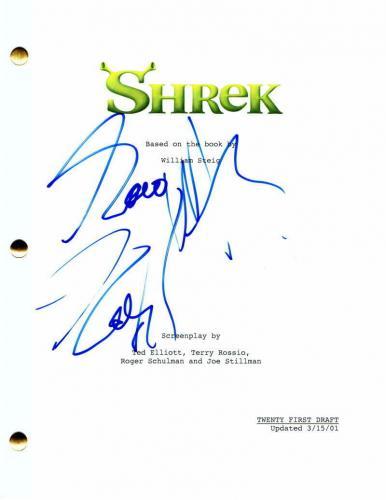 "Eddie Murphy Signed Autograph ""shrek"" Full Movie Script - Snl, Coming 2 America"