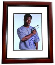 Eddie Murphy Signed - Autographed Beverly Hills Cop 8x10 inch Photo as Axel Foley - MAHOGANY CUSTOM FRAME - Guaranteed to pass PSA or JSA