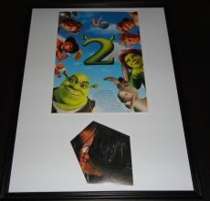 Eddie Murphy Autographed Picture - Framed 18x24 Shrek 2 Display