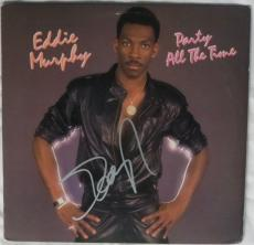 Eddie Murphy Signed Party All The Time Autographed Album Cover PSA/DNA #AC55781