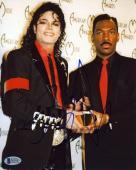 Eddie Murphy w/ Michael Jackson Autographed Signed 8x10 Photo Authentic BAS COA