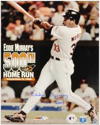 "Eddie Murray Baltimore Orioles 500th Home Run Autographed 16"" x 20"" Photograph with HOF 2003 Inscription"
