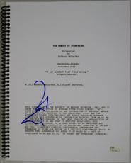 Eddie Redmayne Signed The Theory Of Everything Movie Script JSA #N45706