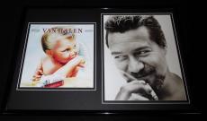 Eddie Van Halen 12x18 Framed Smoking Photo & Van Halen 1984 Display