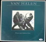 Eddie Van Halen & Alex Van Halen Signed Album Cover W/ Vinyl PSA/DNA #Q52103