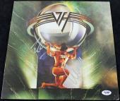 Eddie Van Halen & Alex Van Halen Signed Album Cover W/ Vinyl PSA/DNA #Q52108