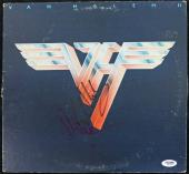 Eddie Van Halen & Alex Van Halen Signed Album Cover W/ Vinyl PSA/DNA #Q52110