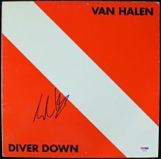 Eddie Van Halen Diver Down Signed Album Cover W/ Vinyl Autograph PSA/DNA #S38054