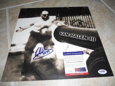 Eddie Van Halen III Signed Autographed LP Album Record Flat Poster PSA Certified