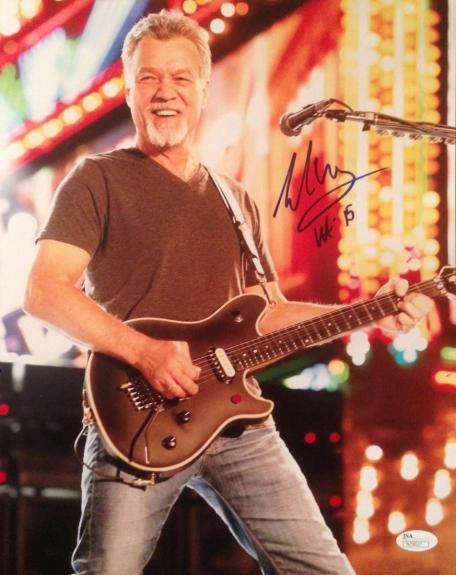 EDDIE VAN HALEN signed 11x14 photo-PERFECT Signature- JSA N029027