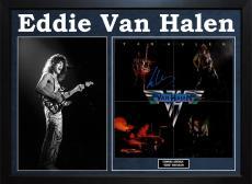Eddie Van Halen Signed Framed Self Titled 1984 Album Lp Display AFTAL UACC