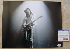 Eddie Van Halen Vintage Live Signed Autographed 11x14 Photo PSA Certified #2