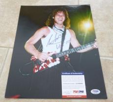 Eddie Van Halen Vintage Live Signed Autographed 11x14 Photo PSA Certified