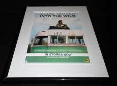 Eddie Vedder 2007 Into the Wild Framed 11x14 ORIGINAL Vintage Advertisement