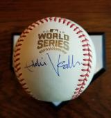 EDDIE VEDDER Autograph Cubs 2016 World Series Signed BASEBALL JSA Pearl Jam HOF