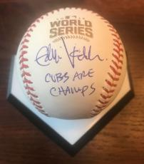 EDDIE VEDDER Autograph Signed BASEBALL JSA Certified CUBS ARE CHAMPS