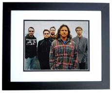 Eddie Vedder Autographed PEARL JAM 11x14 Photo BLACK CUSTOM FRAME