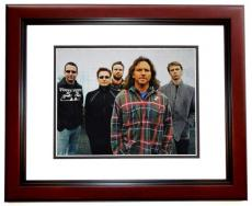 Eddie Vedder Autographed PEARL JAM 11x14 Photo MAHOGANY CUSTOM FRAME