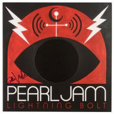 Eddie Vedder Autographed Pearl Jam Lightning Bolt Album Cover - BAS COA