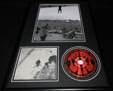 Eddie Vedder Framed Pearl Jam Merkinball CD & Hanging From Rafters Photo Display