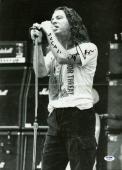 "Eddie Vedder ""Fugazi"" Signed Pearl Jam 11.75X16.5 Poster PSA #V09657"