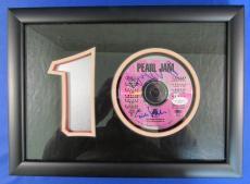 Eddie Vedder Mike McCready Signed Framed Pearl Jam Ten 10 CD JSA G52732