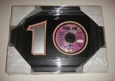Eddie Vedder & Mike Mcgready Signed Pearl Jam Ten 10 Album Framed Cd Jsa Coa