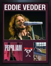 Eddie Vedder Pearl Jam 10 Album Autographed Microphone Custom Display Exact Proo