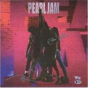 Eddie Vedder Pearl Jam Autographed Ten Album Cover with Hand Drawing - BAS