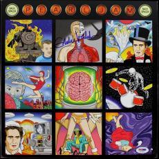 Eddie Vedder Pearl Jam Back Spacer Signed Album Cover W/ Vinyl PSA/DNA #T01067