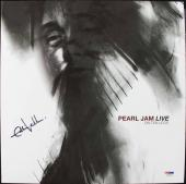 Eddie Vedder Pearl Jam Live On Ten Legs Signed Album Cover W/ Vinyl PSA #T08096