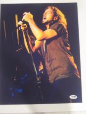 EDDIE VEDDER (Pearl Jam) Signed 11x14 Concert PHOTO w/ PSA LOA & Graded 10