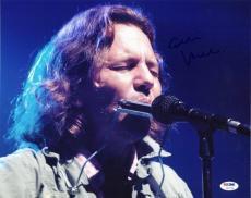 Eddie Vedder Pearl Jam Signed 11X14 Photo Autographed PSA/DNA #V10719