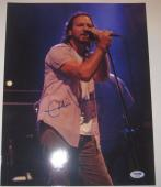EDDIE VEDDER (Pearl Jam) Signed 11x14 PHOTO w/ PSA LOA & Graded 10