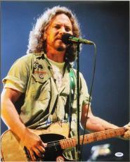 Eddie Vedder Pearl Jam Signed 16X20 Photo Autographed PSA/DNA #T08131