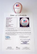 Eddie Vedder Pearl Jam Signed 2001 World Series Baseball Jsa Loa Y57058