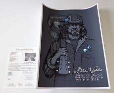 Eddie Vedder Pearl Jam Signed 3/24-25/2008 Kenyon Hall Seattle Poster Jsa Y68650