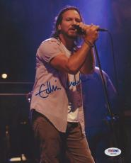 EDDIE VEDDER (Pearl Jam) Signed 8 x10 PHOTO w/ PSA LOA & GRADED 10!