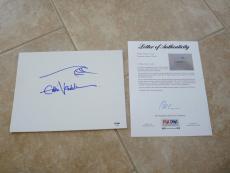 Eddie Vedder Pearl Jam Signed Autographed 9x12 Hand Drawn Sketch PSA Certified