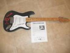 Eddie Vedder Pearl Jam Signed Autographed Black Electric Guitar PSA Certified